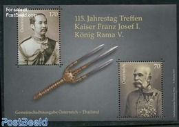 Austria 2012 Meeting Of Franz Josef I And King Rama V S/s, Joint Issue Thailand, (Mint NH), History - Kings & Queens (Ro - 2011-... Nuovi & Linguelle