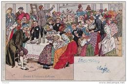 Illustrateur Paul Kauffmann - Usages Et Costumes D´Alsace - N° 16 (Le Repas De Noce) - (2 Scans) - Kauffmann, Paul