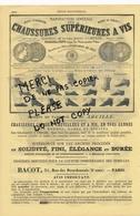 1866 Teinturerie Nouvelle Blanchisserie JOLLY Manufacture De Chaussures Abeille  BACOT 35 Rue Des Bourdonnais à PARIS - Publicités