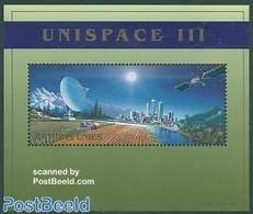 United Nations, Geneva 1999 Unispace S/s, (Mint NH), Transport - Space Exploration - Science - Telecommunication - Telecom