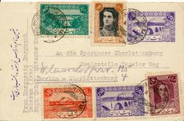 TEHERAN - 1947 , Ganzsache , Post Card , Carte Postale - Nach Berlin - Iran
