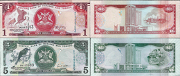 Trinidad And Tobago 2006 Set 2 Pcs 1+5 Dollars - Pick 46-47 UNC - Trinité & Tobago