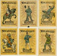POTSDAM - 28. November 1921 , 6 Notgeldscheine - Lokale Ausgaben