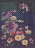 3D Plastic POSTCARD - Flowers - Cartes Postales
