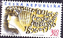 Tschechien Czechia Tchéquie - 100 Jahre Philharmonisches Orchester (MiNr: 100) 1996 - Gest Used Obl - Czech Republic