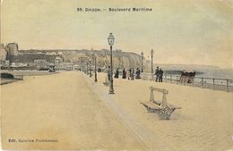 Dieppe - Boulevard Maritime - Edition Galeries Parisiennes - Carte N° 89 Colorisée, Toilée, Vernie, Non Circulée - Dieppe