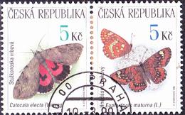 Tschechien Czechia Tchéquie - Falter (MiNr: 209/10 Paar) 1999 - Gest Used Obl - Czech Republic