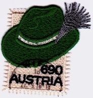Austria Österreich 2018  Steirerhut. Guipure-Stickerei Auf Atlasgewebe USED / O / GESTEMPELT - 1945-.... 2. Republik
