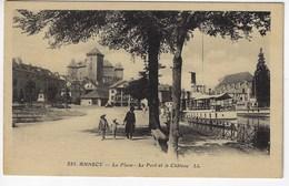 74 - ANNECY - La Place - Le Port Et Le Château - Animée (K101) - Annecy