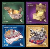 Russia 2018 - Set Of Russian Treasures Famous Jewelers Art Cultures Carl Fabergé Handicrafts Stamps MNH - Art