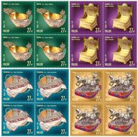 Russia 2018 - Block Of 4 Russian Treasures Famous Jewelers Art Cultures Carl Fabergé Handicrafts Stamps MNH - 1992-.... Federation