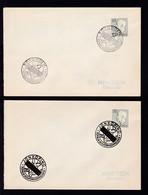 4 Briefe Mit Sonderstempeln Zur Totalen Sonnenfinsternis Am 30.6.1954 Der Orte - Postal Stationery