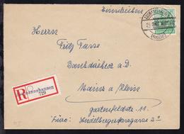 Bandaufdruck 84 Pfg. Auf R-Brief Ab Assmannshausen 24.6.48 Nach Mainz - Zone Anglo-Américaine