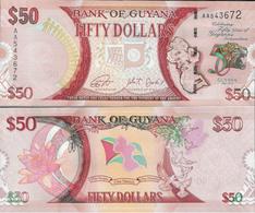 Guyana 2016 - 50 Dollars - 50 Years Of Independence - Pick New UNC - Guyana