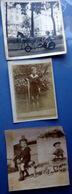 JOUETS ENFANTS 9 PHOTOS D'ENFANTS AVEC JOUETS CHEVAL DE BOIS YOYO CHARRETTE CERCEAU ANNEES 1900/1950 - Jeux Et Jouets