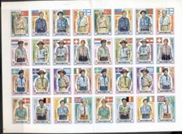 Ajman 1971 Mi#904-919B 13th World Scout Jamboree 1dh-80dh Sheet (folded) IMPERF MUH - Ajman