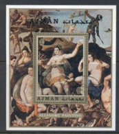 Ajman 1971 Mi#MS275A Paintings By Famous Masters MS CTO - Ajman
