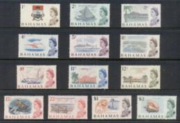 Bahamas 1967 QEII Decimal Pictorials Asst To $2 (13/15, No 50c, $3) MUH - Bahamas (1973-...)