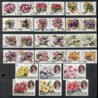 Cook Is 1981-82 QEII Pictorials, Flowers MUH - Cook Islands