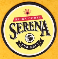 Sous-bock Cartonné - Bière - France - Serena Pur Malt - Biera Corsa - Corse - Beer Mats