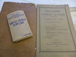 Diplome Militaria Sportif Schulatlas 1888 Alsace - Schulbücher