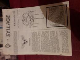 Fanzine Sf Syllage 3  Six Pages - Fanzines