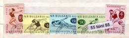 1958 SPORT - BALKAN GAMES. 5v- Used/oblitere / Gest.(O) BULGARIA / Bulgarie - Francobolli
