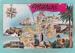 Old Post Card Of Stop In The Desert,Maroc Morocco,R82. - Morocco