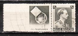 PU113  Leopold III Col Ouvert - Telefunken - Oblit. - Légères Rousseurs - LOOK!!!! - Advertising
