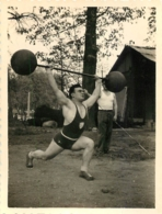 PHOTO ORIGINALE HALTEROPHILE HALTEROPHILIE  FORMAT  9 X 7 CM - Sports