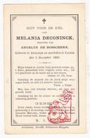 DP Melania DeConinck ° Anzegem † Kaster 1890 X Angelus De Bosschere - Devotion Images
