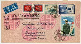 Flugpostbrief MIF Nach Rapperswil Schweiz - 1945-... Republik China