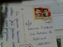 STORIA POSTALE FRANCOBOLLO COMMEMORATIVO MALTA ABELA DYER COUNTRY CHAPELLE STAMP SELO TIMBRE 1985 GY6004 - Malta