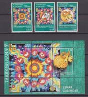 Tajikistan 11.03.2003 Mi # 264-66 Bl 32,Year Of The Sheep, MNH OG - Tadjikistan