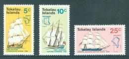 TOKELAU - MNH/** - 1970 - SAILING SHIPS - Yv 22-24 -  Lot 18348 - Tokelau
