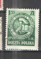 Polonia PO 1953 Congresso Stud. +Scott.585+See Scan On Schabek Page; - 1944-.... Repubblica