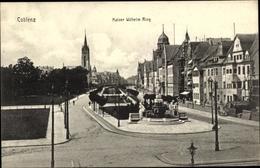 Cp Koblenz In Rheinland Pfalz, Kaiser Wilhelm Ring, Statue, Kirche - Allemagne