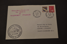 Paquebot FRANCE Greve 26/09/1974 ST Vaast 2 Eme Semaine De Gréve - Postmark Collection (Covers)