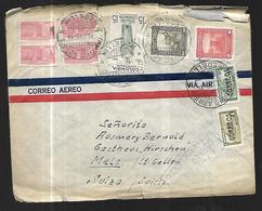 Colombie Lettre  Par Avion Du 11 07 1948 De Medellin Pour  Mels /St Gallen  En Suisse - Colombie