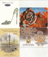 Pocket Calendar Russia - 4 Pcs. - Different Years - Jewelry - Minerals - Advertising - Vintage - Beautiful - Calendari
