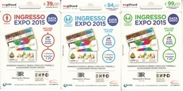 Gift Card Italy Expo 2015 Complete Set 3 Cards - Gift Cards
