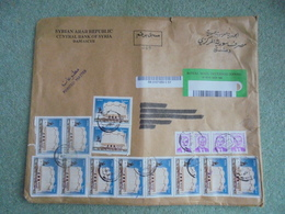 S073: Envelope With 16 SYRIA Stamps. Postmark Dated 11.12.2002. - Syria