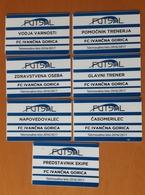 SLOVENIA FUTSAL Leaugue FC Ivancna Gorica 2016/2017  7 Different Accreditation's Plastic Card - Tickets D'entrée