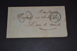 Lettre 1862 Charleville Mézières Pour Dom Le Ménil Taxé + Ambulant Paris Sedan - 1849-1876: Période Classique
