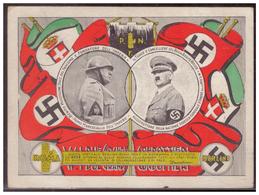 Dt.- Reich (006869) Propagandakarte Italien Farbig!! Adolf Hitler Und Mussolini Rom-Berlin, Gelaufen Rom 1938 - Germany