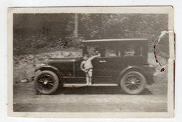 < Automobile Auto Voiture Car >> Belle Photo Originale 6 X 9, Tacot Enfant Child, Photo Déchirée Voir Scan - Cars