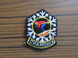 Ecusson De Chamonix     Skieur - Ecussons Tissu