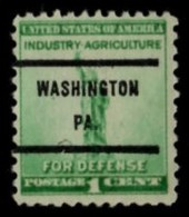"USA Precancel Vorausentwertung Preo, Locals ""WASHINGTON "" (PA). - United States"