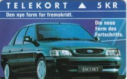 Denmark, KP 015, Ford Escort, Car, Mint, Only 2.000 Issued, 2 Scans - Dänemark