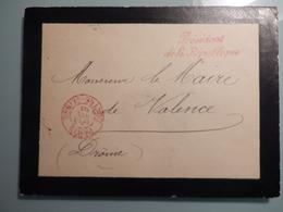 Enveloppe  Reçue De La Présidence De La République Par Le Maire De Valence (Drome) - Marcophilie (Lettres)